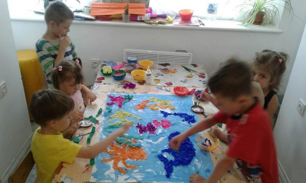 коллективная работа в детсаду
